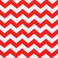 Lunch napkins Chevron red