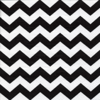Lunch napkins Chevron black