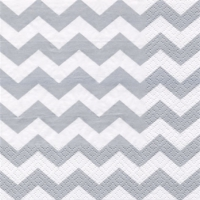 Lunch napkins Chevron silver