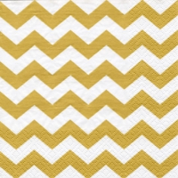 Lunch napkins Chevron gold