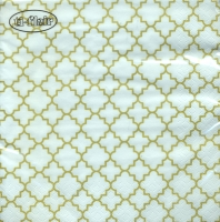 Lunch napkins Quattrefoil Lattice Fine gold