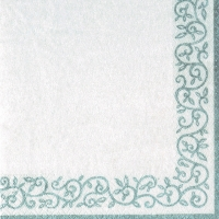 Lunch napkins Romantic Border silver-white