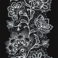 Lunch napkins White Lace black