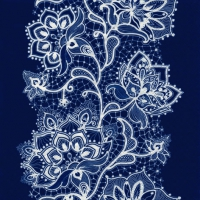 Lunch napkins White Lace navy