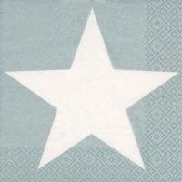 Serviettes de table 33x33 cm - Étoile brillante argent