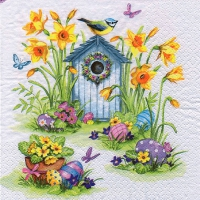 Serviettes lunch Birdhouse & Easter Eggs