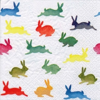 Serviettes lunch Colorful Rabbits