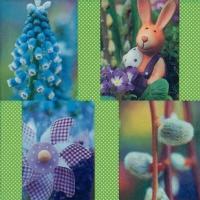 Lunch Servietten Easterly Collage green