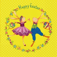 Lunch napkins Easter Dance yellow