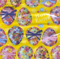 Serviettes lunch Multicoloured Easter Eggs