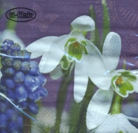 Lunch napkins Snowdrop & Muscari