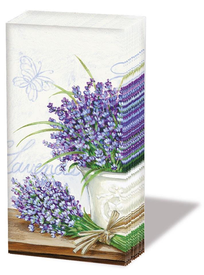 Taschentücher LAVENDER SCENE CREAM,  Everyday,  bedruckte papiertaschentücher,  Lavendel