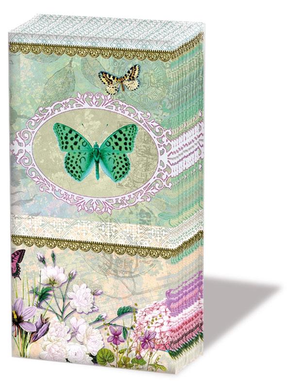 Windlichter / Kerzen, Tiere,  Blumen,  Everyday,  bedruckte papiertaschentücher,  Schmetterlinge,  Blumen