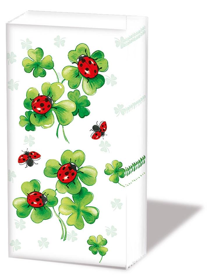 Porzellan Tassen,  Blumen,  Everyday,  bedruckte papiertaschentücher,  Marienkäfer,  Klee