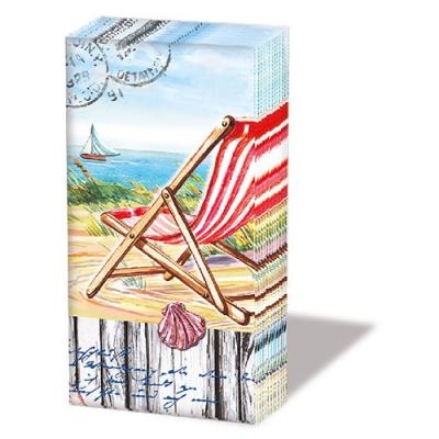 Taschentücher Beach Chair,  Everyday,  bedruckte papiertaschentücher,  Muscheln,  Meer