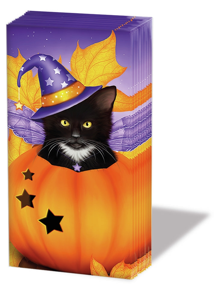 Taschentücher Halloween Cat