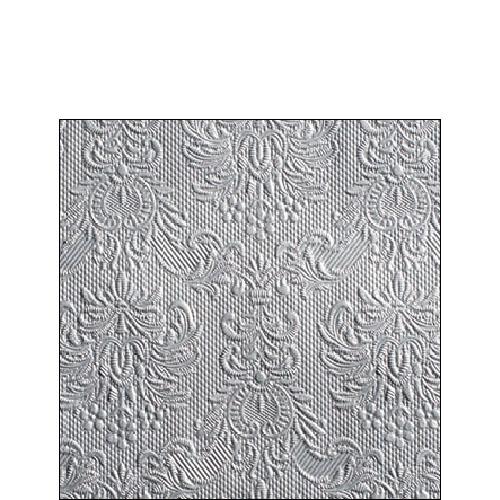 15 Servietten - 25 x 25 cm geprägt,   Einfarbige Servietten,   geprägte Servietten,   geprägte Servietten,  Everyday,  cocktail servietten,  grau
