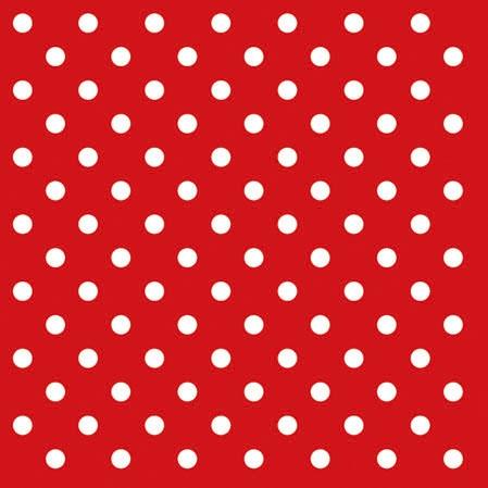 Cocktail Servietten DOTS RED ,  Sonstiges - Muster,  Everyday,  cocktail servietten,  Punkte,  rot