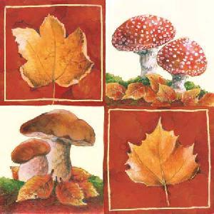 20 Servietten - 25 x 25 cm AUTUMN,  Herbst - Blätter / Laub,  Weihnachten,  cocktail servietten
