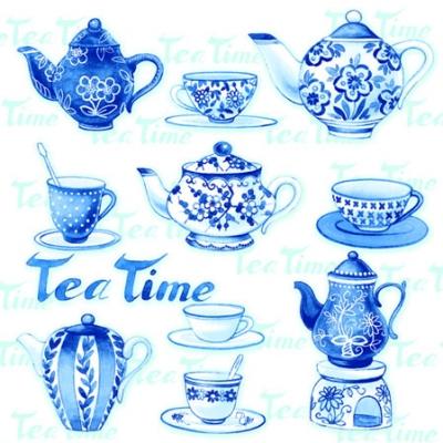 Ambiente,  Sonstiges - Porzellanmotive,  Everyday,  cocktail servietten,  Tee,  Teetasse,  Teekanne