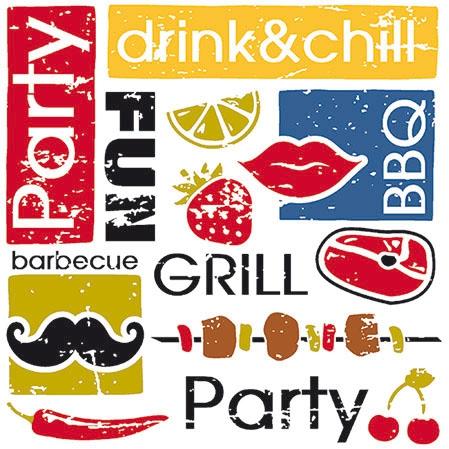 Cocktail Servietten SUMMER PARTY ,  Essen -  Sonstiges,  Sonstiges - Schriften,  Everyday,  cocktail servietten,  Schriften,  Essen