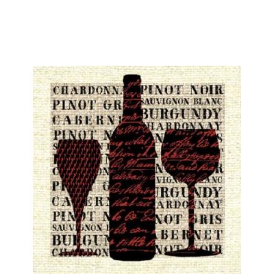 Ambiente,  Sonstiges - Schriften,  Getränke - Wein / Sekt,  Everyday,  cocktail servietten,  Wein,  Schriften