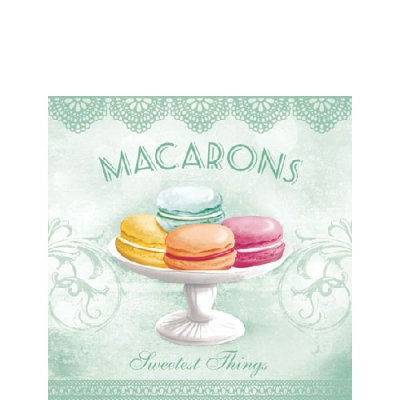 Cocktail Servietten MACARONS AQUA