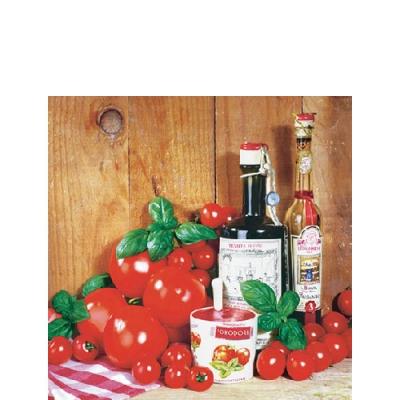 Cocktail Servietten Pomodori,  Essen - Gewürze,  Gemüse - Tomaten,  Everyday,  cocktail servietten,  Essig,  Öl,  Tomaten,  Basilikum