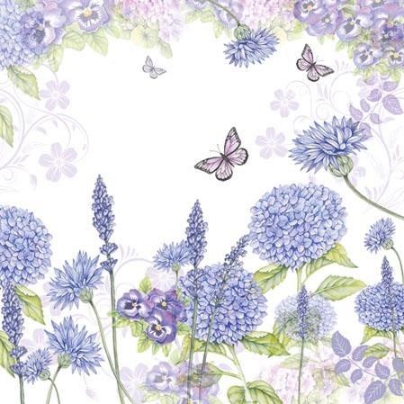 Cocktail Servietten Purple Wildflowers