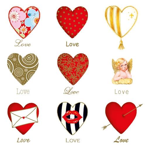 Lunch Servietten LOVE,  Ereignisse - Hochzeit,  Sonstiges -  Sonstiges,  Ereignisse - Liebe,  Everyday,  lunchservietten,  Herzen,  Engel,  Muster
