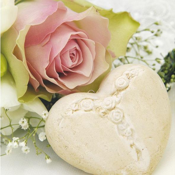 Lunch Servietten TRUE LOVE,  Blumen -  Sonstige,  Blumen - Rosen,  Ereignisse - Feier,  Everyday,  lunchservietten,  Herz