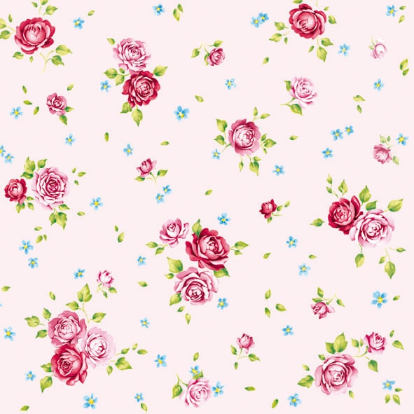 20 Servietten - 33 x 33 cm ROSALIE ROSE,  Blumen - Rosen,  Everyday,  lunchservietten
