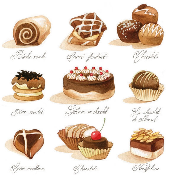 Everyday,  Essen - Süßigkeiten,  Essen - Pralinen / Schokolade,  Everyday,  lunchservietten
