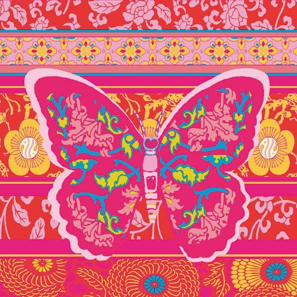 Lunch Servietten Oriental,  Tiere - Schmetterlinge,  Sonstiges - Muster,  Blumen -  Sonstige,  Everyday,  lunchservietten