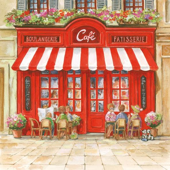 Servietten / Frankreich,  Regionen - Länder - Frankreich,  Everyday,  lunchservietten,  Café,  Paris,  Frankreich