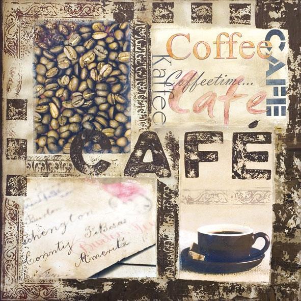 Lunch Servietten KAFFEE,  Getränke Kaffee / Tee,  Everyday,  lunchservietten,  Kaffeetasse,  Kaffee,  Kaffeebohnen