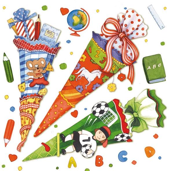 Ambiente,  Ereignisse -  Sonstige,  Everyday,  lunchservietten,  Einschulung,  Zuckertüte