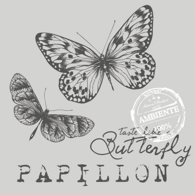 Lunch Servietten PAPILLON GREY