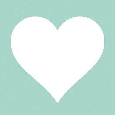 Lunch Servietten HEART AQUA ,  Ereignisse - Liebe,  Everyday,  lunchservietten,  Herzen