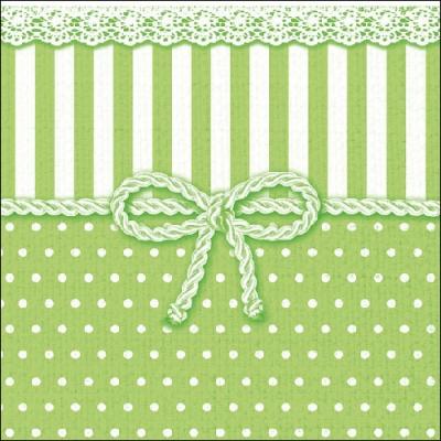 Servietten / Sonstiges,  Sonstiges - Muster,  Sonstiges -  Sonstiges,  Everyday,  lunchservietten,  Punkte,  Schleife,  grün