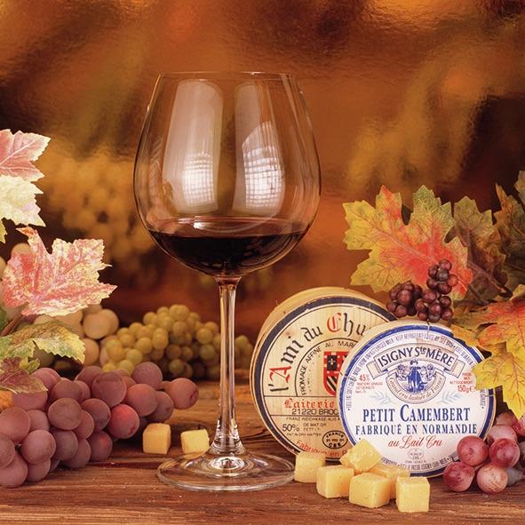 Servietten / Käse,  Früchte - Weintrauben,  Essen - Käse,  Getränke - Wein / Sekt,  Everyday,  lunchservietten,  Käse,  Weintrauben,  Wein