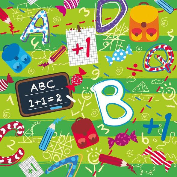 Lunch Servietten SCHOOL START ,  Sonstiges - Schriften,  Ereignisse - Schule,  Everyday,  lunchservietten,  Zahlen,  Schriften