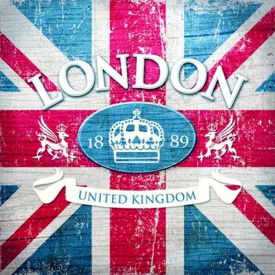 Ambiente,  Regionen - Länder - Flaggen,  Everyday,  lunchservietten,  London,  Großbritannien,  Flagge
