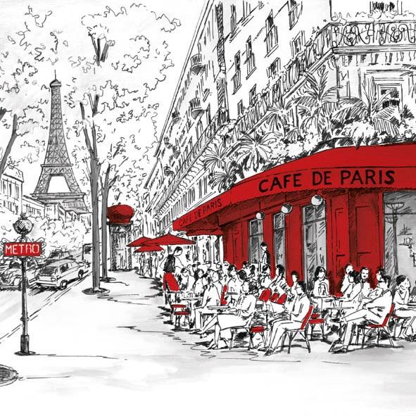 Lunch Servietten JOLI PARIS ,  Menschen - Personen,  Regionen - Länder - Frankreich,  Everyday,  lunchservietten,  Eifelturm,  Paris,  Menschen