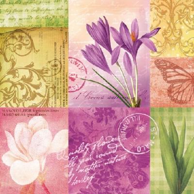 Servietten nach Motiven,  Blumen - Krokus,  Blumen -  Sonstige,  Everyday,  lunchservietten,  Krokus
