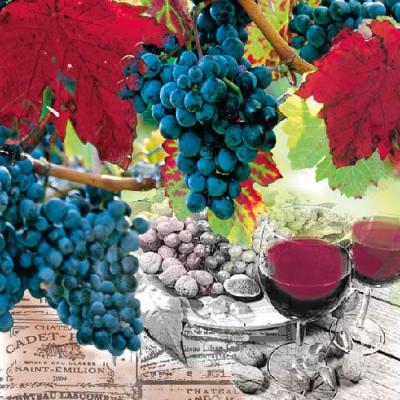 Lunch Servietten Wine,  Früchte - Weintrauben,  Getränke - Wein / Sekt,  Everyday,  lunchservietten,  Wein,  Weintrauben