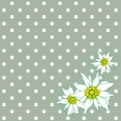 Servietten Blumenmotive,  Blumen -  Sonstige,  Everyday,  lunchservietten,  Blumen,  Punkte