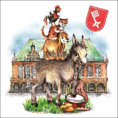 Servietten / Sonstiges,  Sonstiges - Märchen,  Everyday,  lunchservietten,  Bremer Stadtmusikanten
