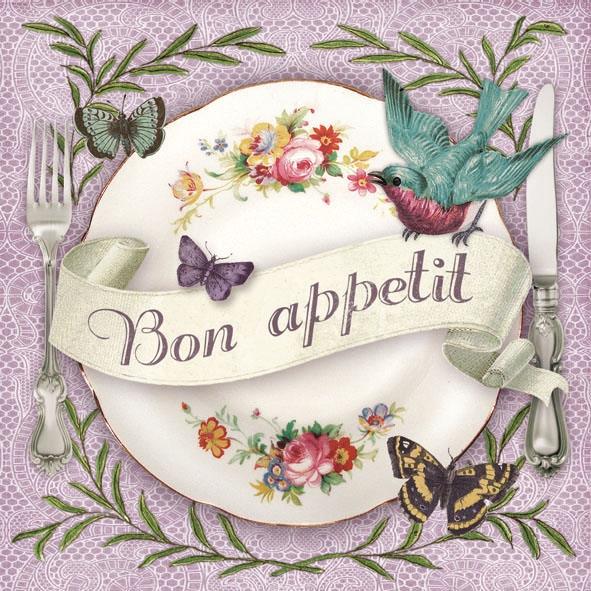 Lunch Servietten Tasteful,  Blumen -  Sonstige,  Tiere - Schmetterlinge,  Tiere - Vögel,  Everyday,  lunchservietten,  Vögel,  Teller,  Schriften,  Schmetterlinge