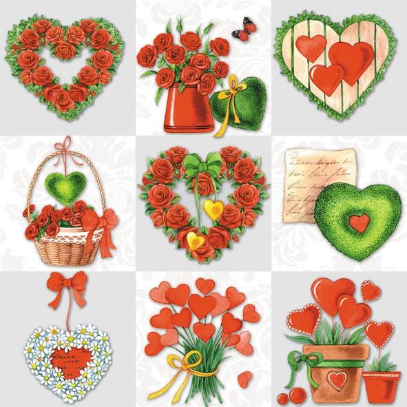 Lunch Servietten Loving Hearts